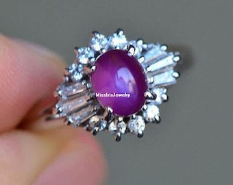 Star Ruby Engagement Ring