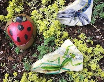 Painted Garden Stones (Bug Friends)