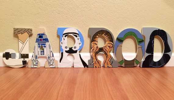 star wars letters items similar to wars letters painted letter 24972 | il 570xN.862823704 kn42