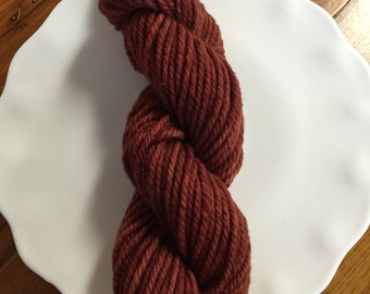 Dark Orange Merino Wool Hand Dyed Yarn