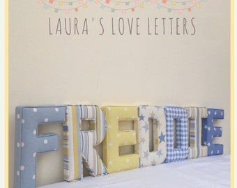 Fabric Letters, Personalised, Initial, Name, Baby Room, Nursery, Baby Gift
