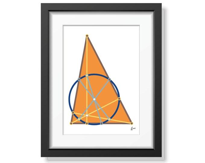 Nine point circle 05 [mathematical abstract art print, unframed] A4/A3 sizes