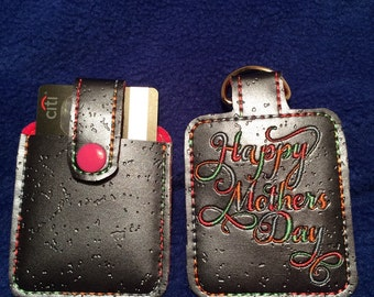 Mother's Day, credit card sleeve, credit card holder, gift, key ring, credit card, ID card sleeve