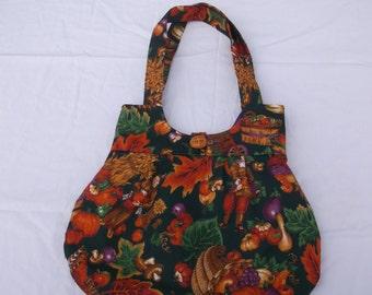 Fall Print Handbag