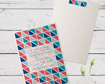 Geometrics Wedding Save The Date