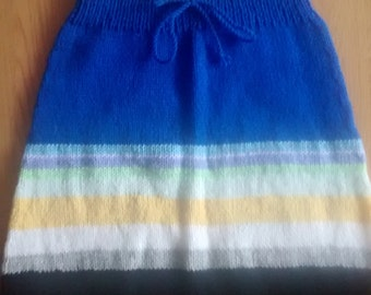 116/6-striped skirt with blue/black as main colors