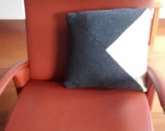 Cushion cover, ecru grey, 16 x 16 inch