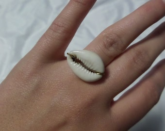 Wire Wrapped Shell Ring