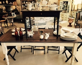 Farmhouse Table, Harvest Table, Farm Table, Rustic Table, Country Table, Distressed Table, Pine table, Outdoor Wedding
