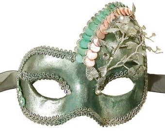 Water Mist Mermaid Masquerade Mask - U995
