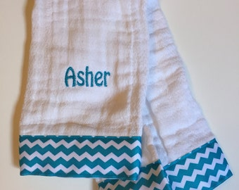 Burp Cloths - Personalized (set of 2)
