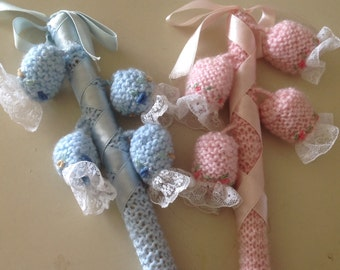 Cute vintage inspired baby rattle