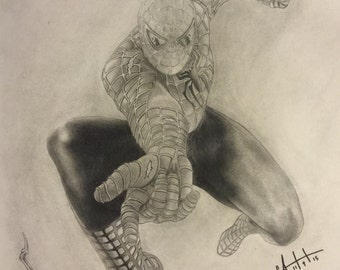 "9"" by 12"" Original Spiderman Drawing"
