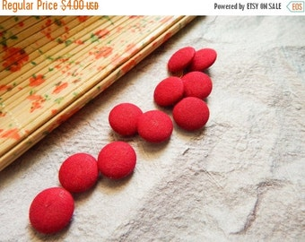 15% OFF Set of 10 Fabric Buttons, 10mm buttons, Decorative Buttons, Fabric Covered Buttons, Pink Buttons
