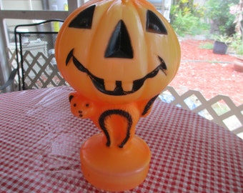 Halloween Blow Mold, Jack o Lantern, Scary Cat-