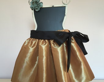 Special Occasion Taffeta Skirt with Sash