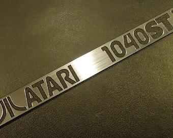 Atari 1040 STE Label / Logo / Sticker / Badge brushed aluminum 100 x 10 mm [288]