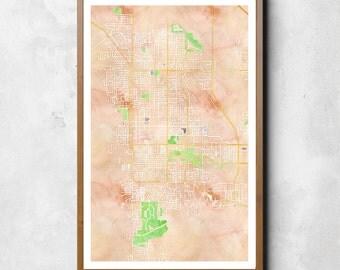 Map of Palm Springs, Palm Springs, Palm Springs art, Palm Springs map, Palm Springs print, Palm Springs decor, Palm Springs gift, Map Gift