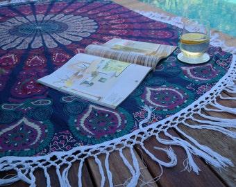 bohemian mandala beach throw