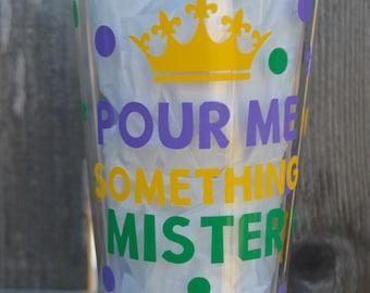 Mardi Gras Tumbler - Pour me something