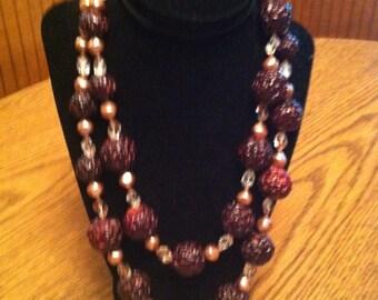 Vintage Popcorn Bead Necklace