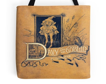Davy and the Goblin Book Cover Tote Bag