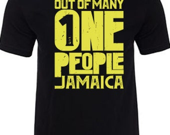 Jamaican T-Shirt Out of Many One People