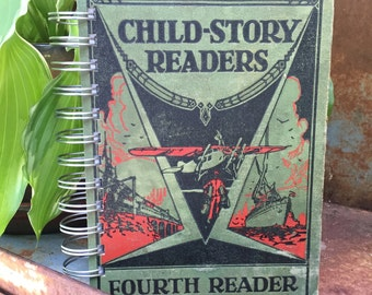 Vintage Book Journal - Child-Story Readers...Fourth Reader
