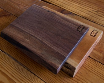 Custom Cherry or Walnut Live Edge Cutting Boards/Cheese Boards/Serving Trays