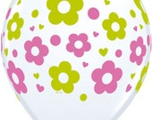 """9 Daisy Flower balloons latex party supplies Large 11"""" inch balloon Party"""