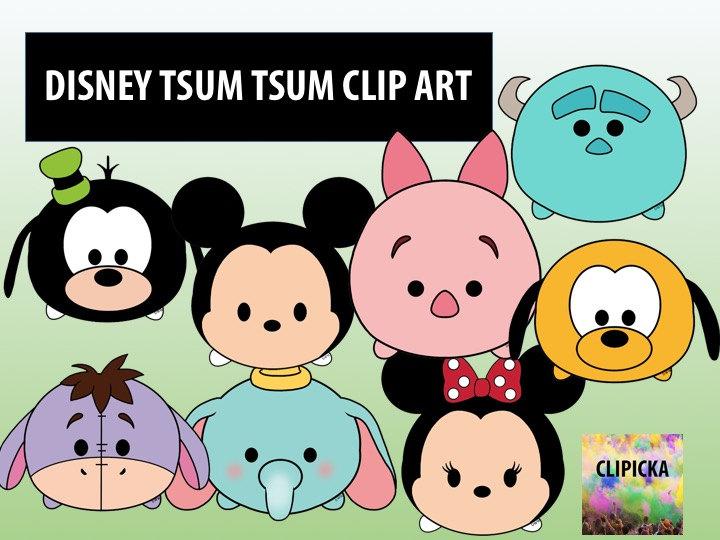 Disney Tsum Tsum Clipart 9: 15 Disney Tsum Tsum Clip Art Cartoon Printable By Clipicka