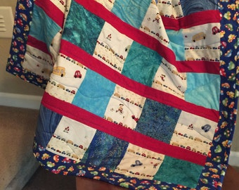 Beep! Beep! Toddler or Baby Quilt