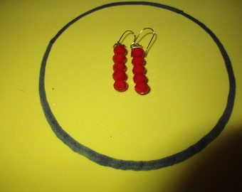 Rich Red dangle earrings