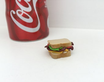 BLT With Cheese Sandwich Royale Polymer Clay Food Charm