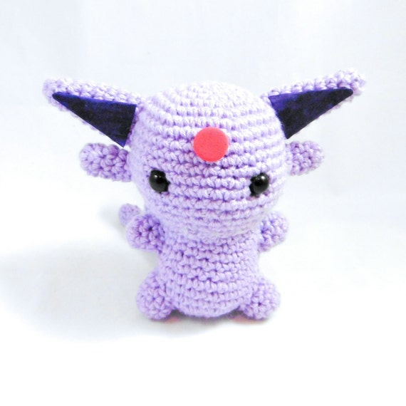 Pokemon Chibi Amigurumi Pattern : Espeon Amigurumi Pokemon Chibi Crochet Plush