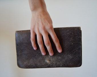 Vintage Leather Clutch, Women, Leather, Bag, Style, Fashion, Ladies, Handbag