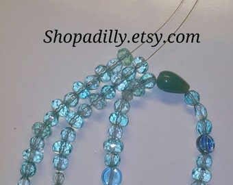 Sparkling Sea Glass Necklace