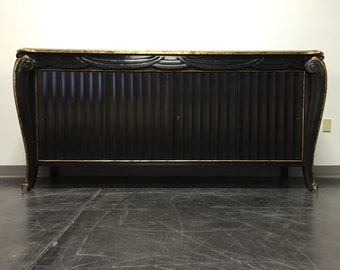 ART DECO Style Extra Large Black Lacquer Credenza / Sideboard / Console