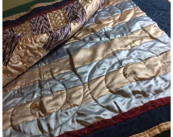 Handmade quilted bed runner or wall hanging