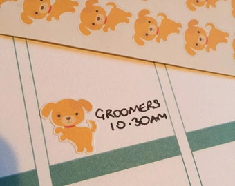 1 page of Pet Planner Sticker Reminders dog car rabbit bunny hamster gerbil