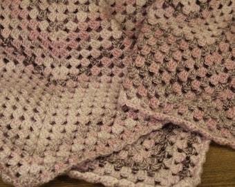 Crochet Baby Blanket  - Purple