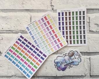 Wheelie bin stickers for Erin Condren, Plum Paper, Filofax, Kikki K (DPD028-029)