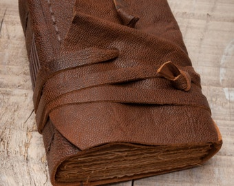 Rustic Leather Journal, Handbound Journal