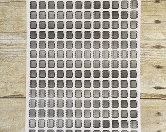 Black and White Striped Planners Plan to Plan 168 Half Inch Stickers F257
