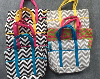 Chevron Diaper Bag - Baby Chevron Diaper Bag Tote