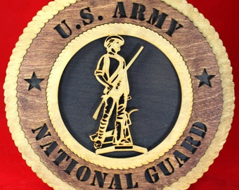 Army National Guard Plaque Tribute