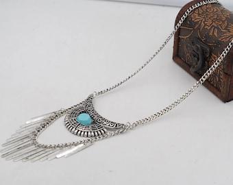 Boho Charming Lovely Turquoise Stone Pendant Necklace