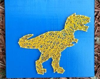 Tyrannosaurus Rex / T-Rex Dinosaur String Art/ Home Decor