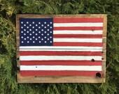 Rustic Repurposed Wood American Flag Wall Art (Medium), 4th of July Decor, Patriotic