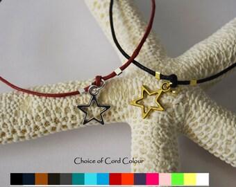 Star wish bracelet - star bracelet - silver star bracelet - gold star bracelet - thank you gift - charm bracelet - sliding knot bracelet